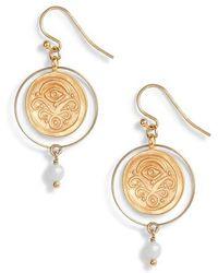 Chan Luu - Amazonite Coin Earrings - Lyst