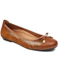 Vionic 'minna' Leather Flat - Brown