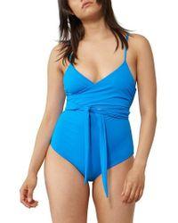 Mara Hoffman | Isolde Tie Front One-piece Swimsuit | Lyst