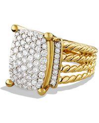 David Yurman - 'wheaton' Ring With Diamonds In Gold - Lyst