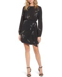Stone Cold Fox Rex Silk Jacket Dress - Black