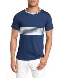 Todd Snyder - Engineered Indigo Stripe T-shirt - Lyst