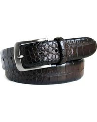 Boconi - Croc Embossed Leather Belt - Lyst
