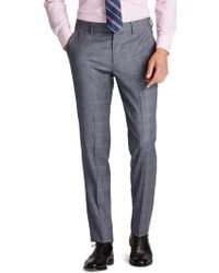Bonobos | Jetsetter Flat Front Stretch Plaid Wool Trousers | Lyst