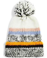 TOPSHOP - Colorblock Stripe Knit Beanie - - Lyst