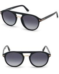 d2146364da0 Tom Ford - Ivan 54mm Polarized Aviator Sunglasses - - Lyst