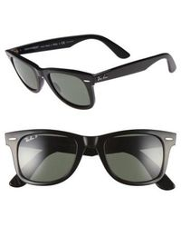 Ray-Ban - 'classic Wayfarer' 50mm Polarized Sunglasses - - Lyst