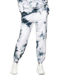 TOPSHOP Gray Tie Dye Sweatpants