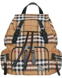 f3ff68f223bc Burberry - Small Rucksack Vintage Check Nylon Backpack - Lyst