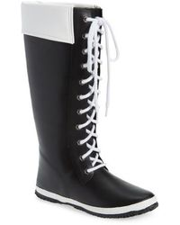 Dav - Lace-up Rain Boot - Lyst