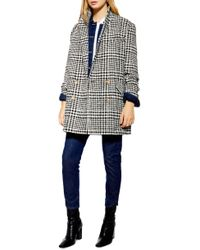 TOPSHOP Pippa Check Coat