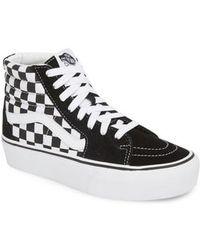 Vans - Ua Sk8-hi Platform Checkerboard Sneaker - Lyst