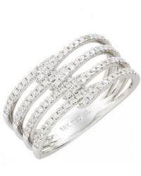 Bony Levy | Kiera Four-row Diamond Ring (nordstrom Exclusive) | Lyst