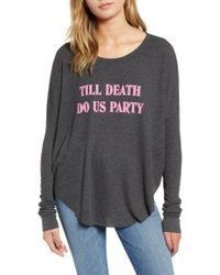 Wildfox - Till Death Do Us Party Jersey Top - Lyst