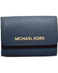 30a2ef445192 MICHAEL Michael Kors - 'jet Set' Saffiano Leather Coin Purse - Lyst