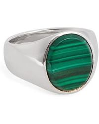 Tom Wood | 'patriot Collection' Oval Malachite Signet Ring | Lyst