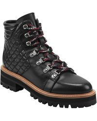 Marc Fisher Irme Quilted Hiking Boot - Black