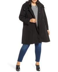 Gallery - Pleated Collar Raincoat With Liner - Lyst