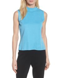 Ming Wang - Mock Neck Knit Tank - Lyst