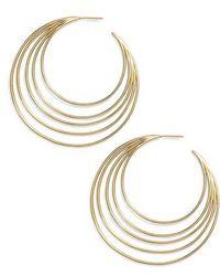 Gorjana - Casey Profile Hoop Earrings - Lyst