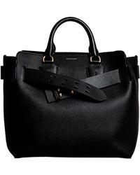 Lyst - Burberry Gainsborough Medium Leather Satchel in Black 803e401ea6750