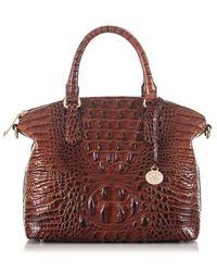 Brahmin - 'medium Duxbury' Croc Embossed Leather Satchel - - Lyst