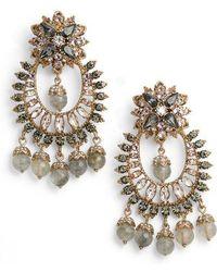 Marchesa - Drama Crystal Earrings - Lyst