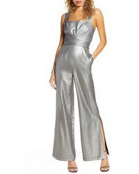 Foxiedox Sappho Metallic Jumpsuit - Gray