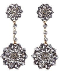 Oscar de la Renta - 'classic Jeweled' Swarovski Crystal Drop Earrings - Lyst