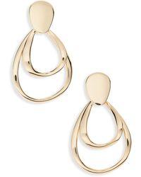 Halogen Halogen Nested Teardrop Earrings - Metallic
