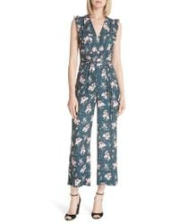 Rebecca Taylor - Emilia Floral Sleeveless Silk Jumpsuit - Lyst