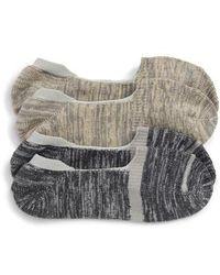 Nordstrom - 2-pack Marl Loafer Liner Socks, Brown - Lyst