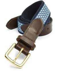 Vineyard Vines - 'whale Club' Leather & Canvas Belt - Lyst