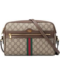 4257b22fed4f Gucci Kids' Gg Supreme Canvas Crossbody Bag W/ Bow Detail in Natural ...
