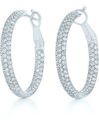 Kwiat Moonlight Pavé Diamond Hoop Earrings - Multicolor