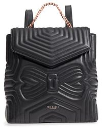 Ted Baker - Quilted Bow Leather Backpack - Lyst
