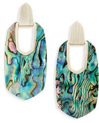 Kendra Scott Kailyn Geometric Drop Earrings - Blue