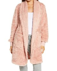 BP. Fleece Short Robe - Pink