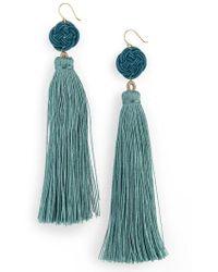 Serefina - Tassel Drop Earrings - Lyst