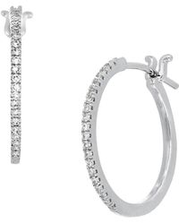 CARRIERE JEWELRY - Carriere Medium Diamond Huggies (nordstrom Exclusive) - Lyst