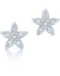 Kwiat Sunburst Flower Diamond Stud Earrings - Multicolor