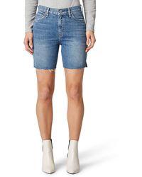 Hudson Jeans Hana High Waist Cutoff Denim Bike Shorts - Blue