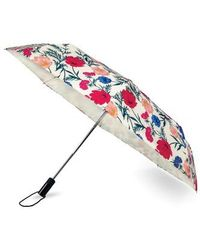 Kate Spade - Rain Drop Compact Travel Umbrella - Coral - Lyst