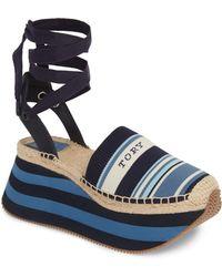 Tory Burch Daisy Lace-up Platform Shoe - Multicolour