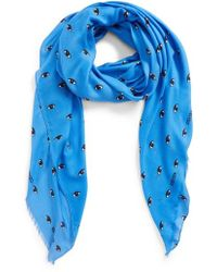 KENZO - Eyes All Over Scarf - Lyst