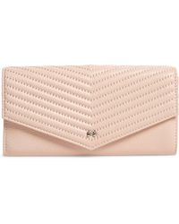 8467c14d4 Ted Baker - Anais Quilted Envelope Crossbody Bag - Lyst