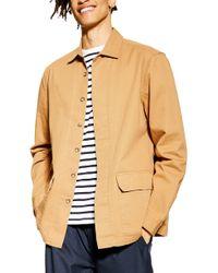 TOPMAN Pocket Shirt Jacket - Brown