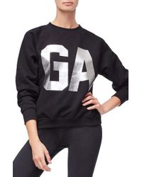 GOOD AMERICAN - Goodies Varsity Sweatshirt - Lyst