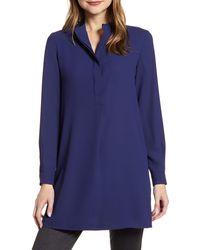 Anne Klein Tunic Shirt - Blue