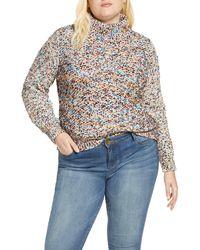 Caslon Caslon Mock Neck Nep Pullover Sweater - Multicolor